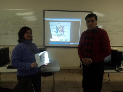 Durante la clausura del taller interactivo